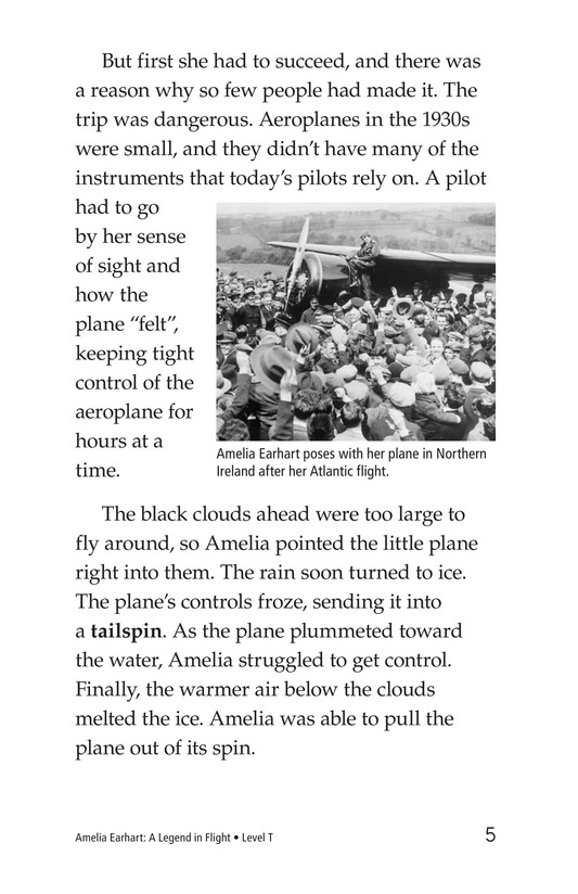 Book Preview For Amelia Earhart: A Legend in Flight Page 5
