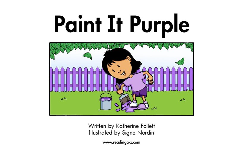 Book Preview For Paint It Purple Page 2