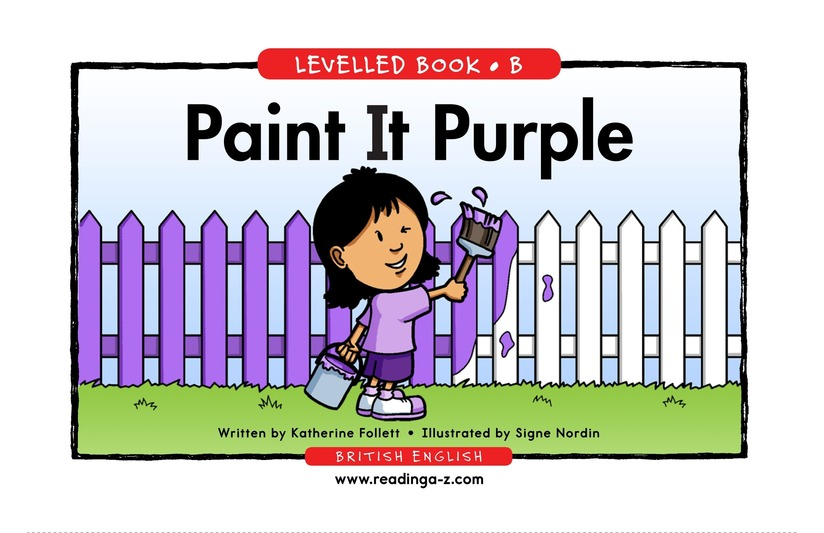 Book Preview For Paint It Purple Page 1