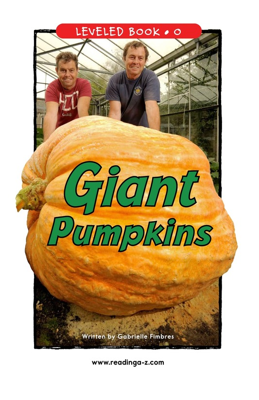 Book Preview For Giant Pumpkins Page 1