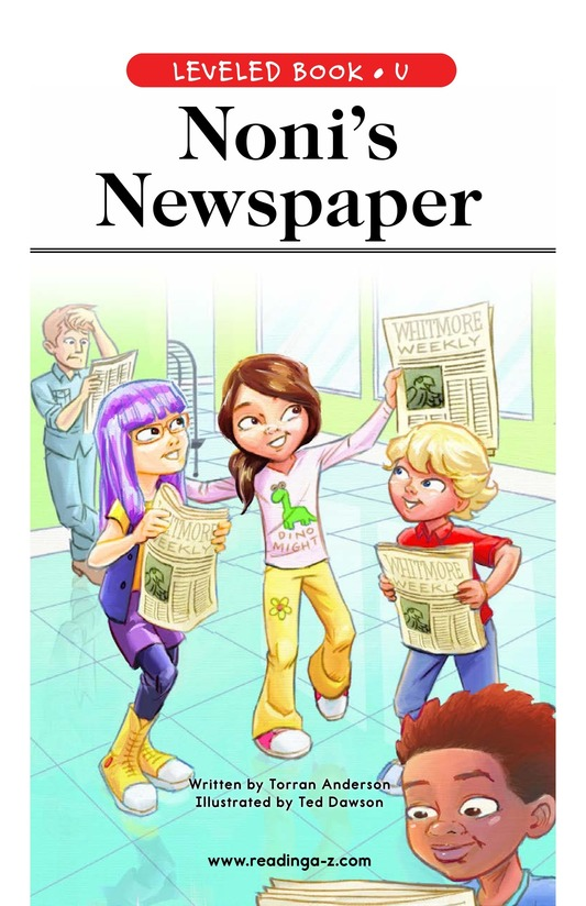 Book Preview For Noni's Newspaper Page 1