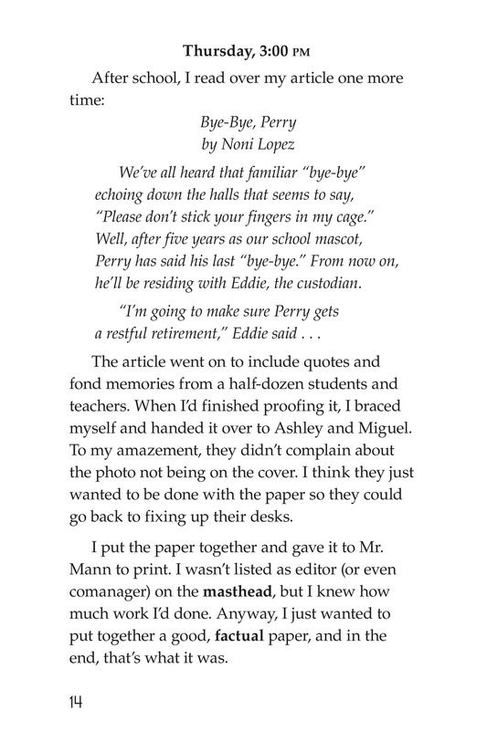 Book Preview For Noni's Newspaper Page 14
