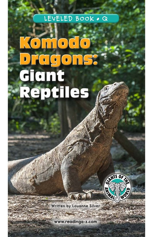 Book Preview For Komodo Dragons: Giant Reptiles Page 1