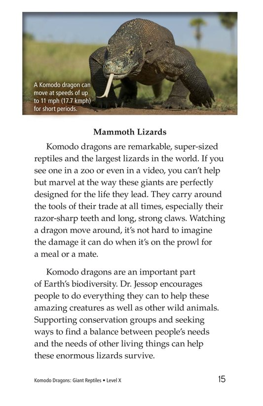 Book Preview For Komodo Dragons: Giant Reptiles Page 15