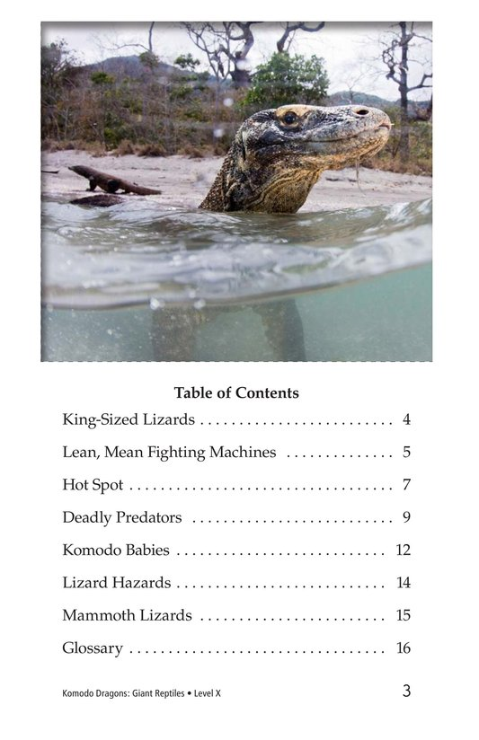 Book Preview For Komodo Dragons: Giant Reptiles Page 3