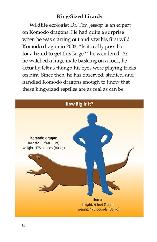 Book Preview For Komodo Dragons: Giant Reptiles Page 4