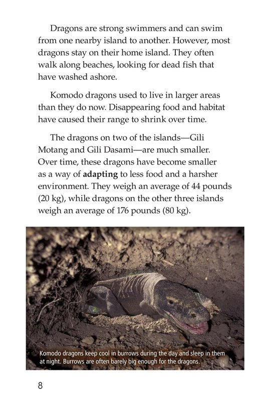 Book Preview For Komodo Dragons: Giant Reptiles Page 8