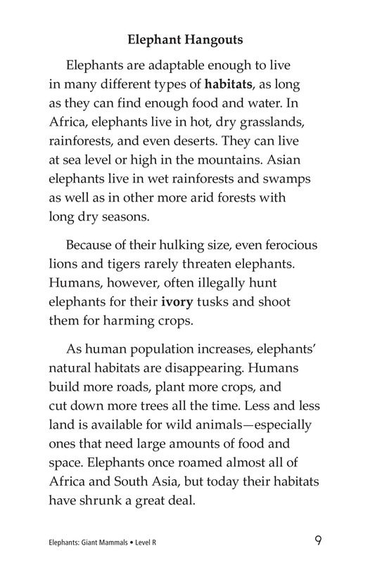 Book Preview For Elephants: Giant Mammals Page 9