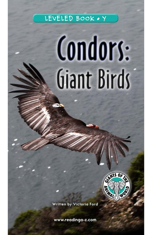 Book Preview For Condors: Giant Birds Page 1