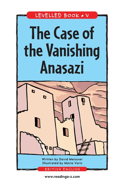 Book Preview For The Case of the Vanishing Anasazi Page 1