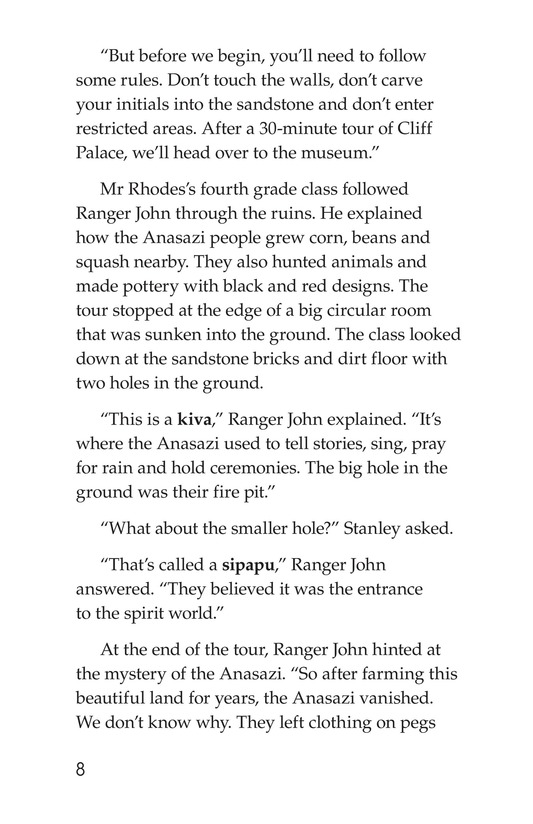 Book Preview For The Case of the Vanishing Anasazi Page 8