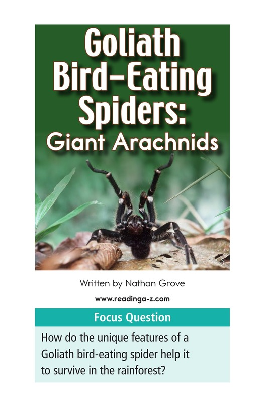 Book Preview For Goliath Bird-Eating Spiders: Giant Arachnids Page 2