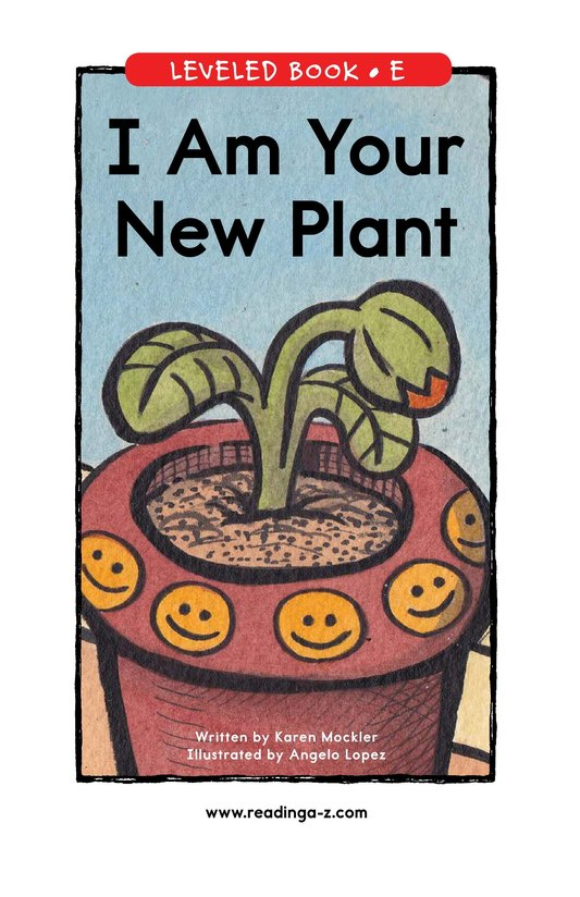 Book Preview For I Am Your New Plant Page 1