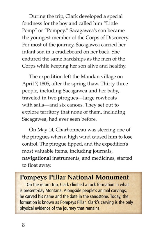 Book Preview For Sacagawea Page 8