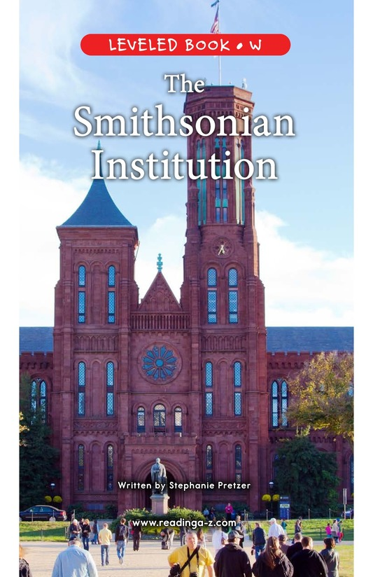 Book Preview For The Smithsonian Institution Page 1