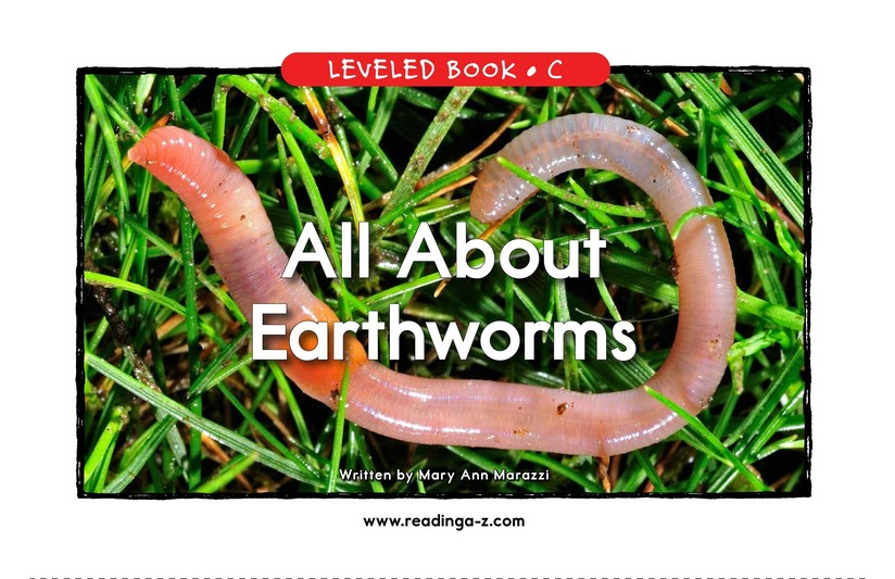 Book Preview For All About Earthworms Page 1