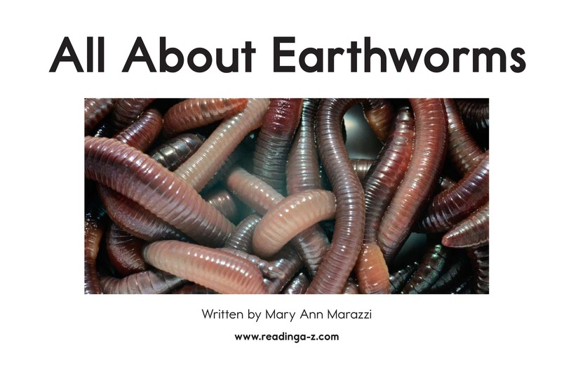 Book Preview For All About Earthworms Page 2