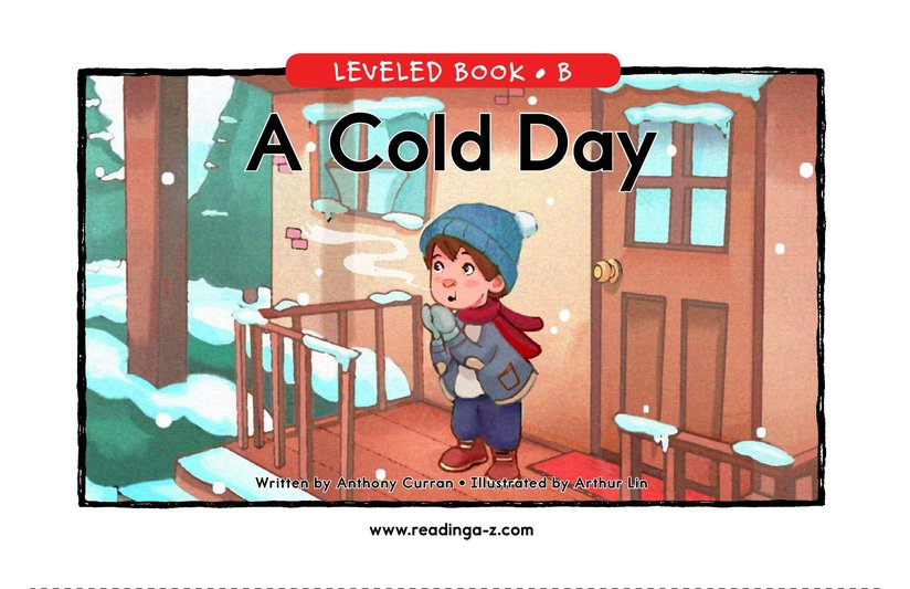 Book Preview For A Cold Day Page 1