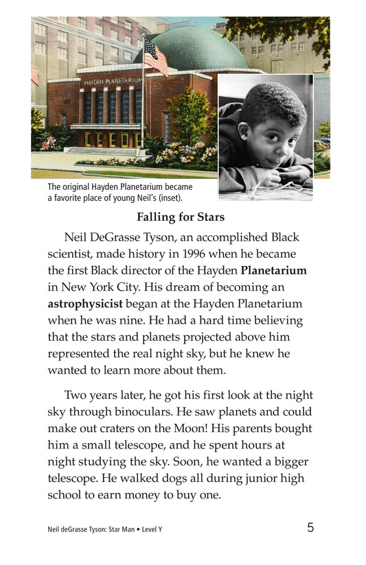 Book Preview For Neil deGrasse Tyson: Star Man Page 5