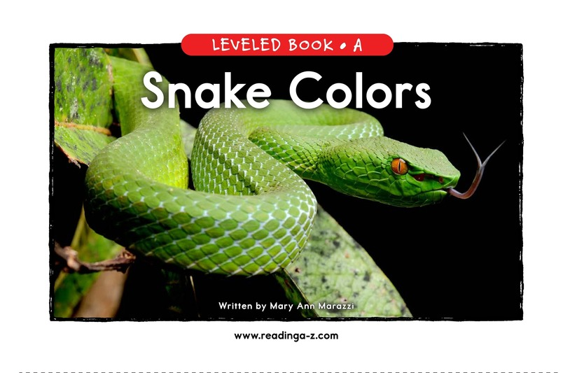 Book Preview For Snake Colors Page 1