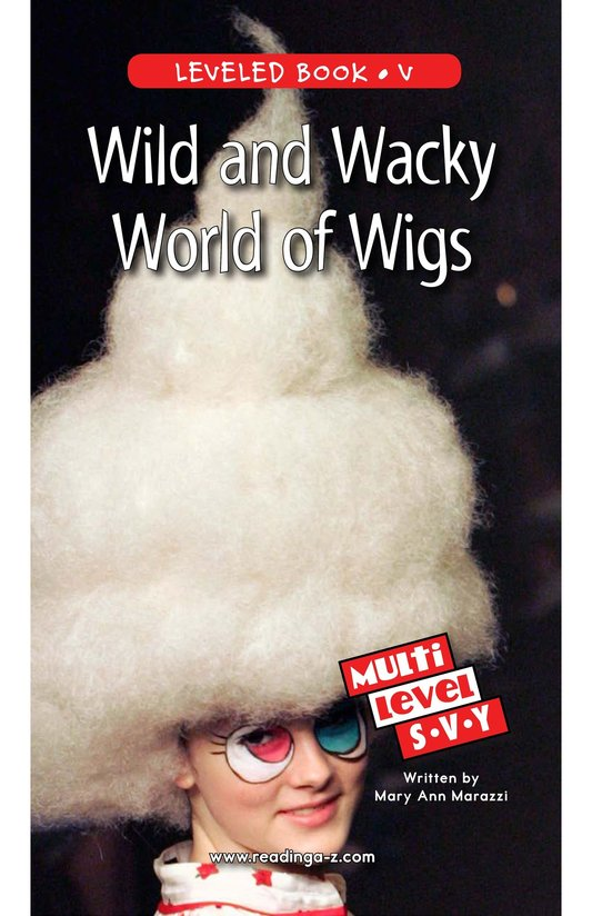 Book Preview For Wild and Wacky World of Wigs Page 1