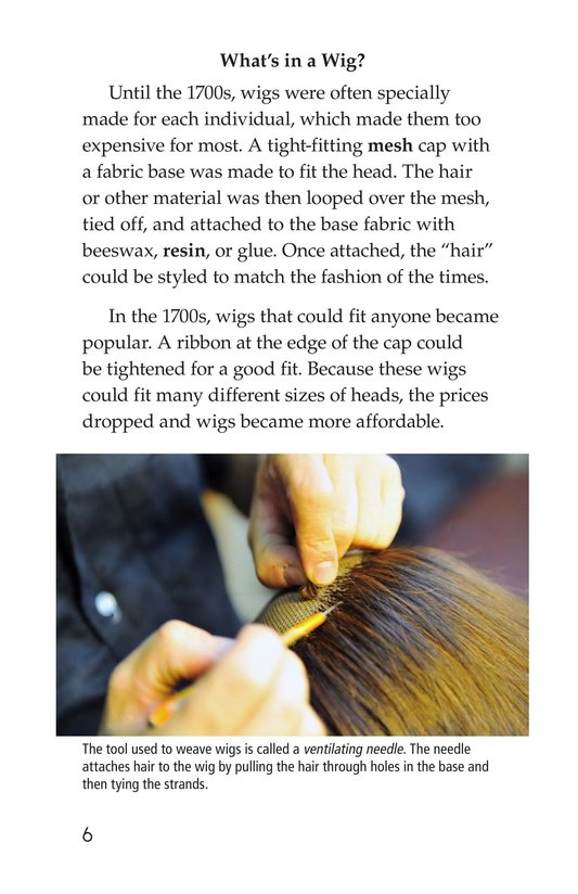 Book Preview For Wild and Wacky World of Wigs Page 6
