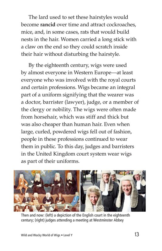 Book Preview For Wild and Wacky World of Wigs Page 13