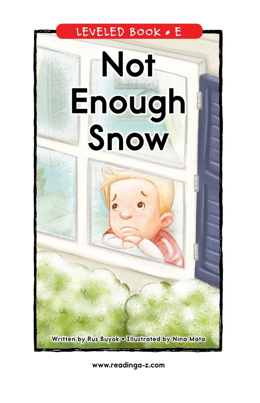 Book Preview For Not Enough Snow Page 1