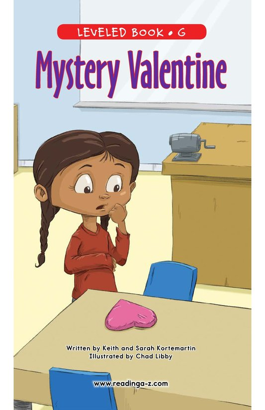 Book Preview For Mystery Valentine Page 1