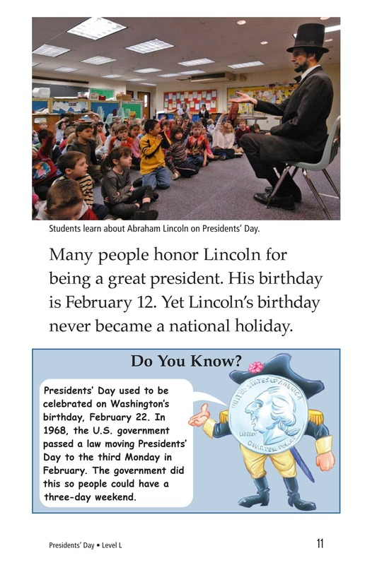 Book Preview For Presidents' Day Page 11