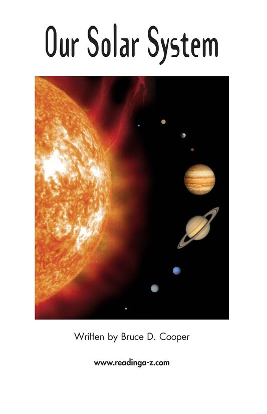 Book Preview For Our Solar System Page 2