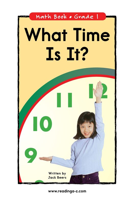 Book Preview For What Time Is It? Page 0