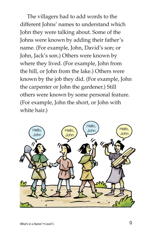 Book Preview For What's in a Name? Page 9