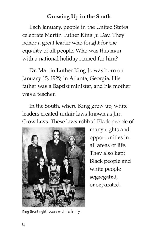 Book Preview For Martin Luther King, Jr. Page 4