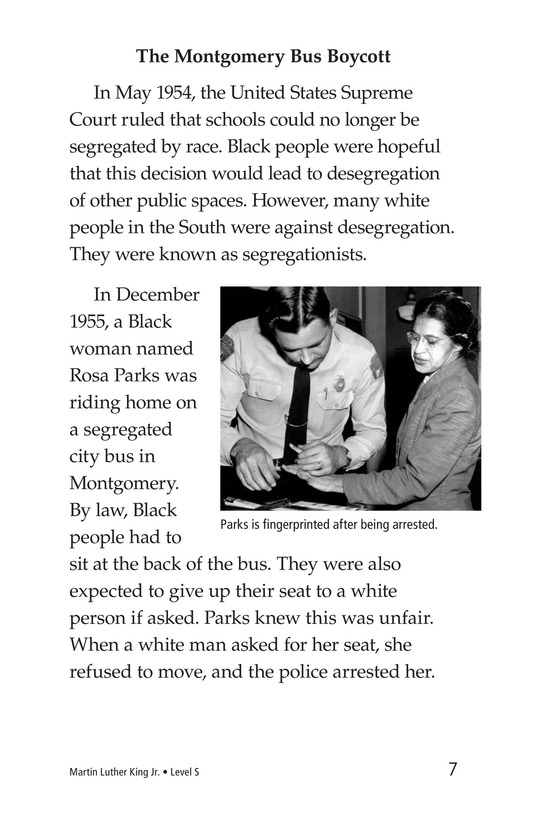 Book Preview For Martin Luther King, Jr. Page 7