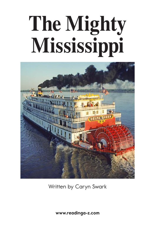 Book Preview For The Mighty Mississippi Page 2