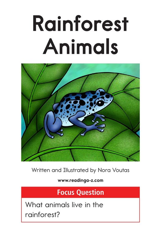 Book Preview For Rainforest Animals Page 1