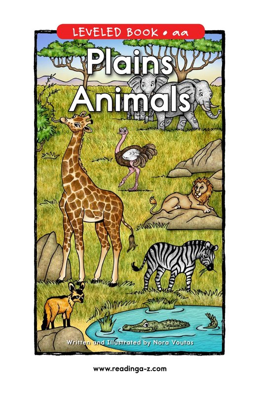 Book Preview For Plains Animals Page 0