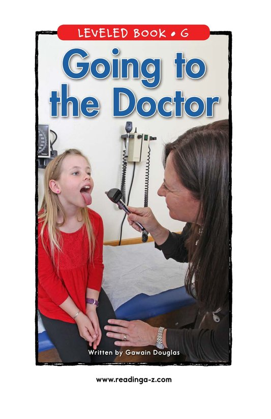 Book Preview For Going to the Doctor Page 0