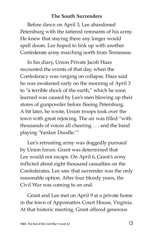 Book Preview For 1865: The End of the Civil War Page 13