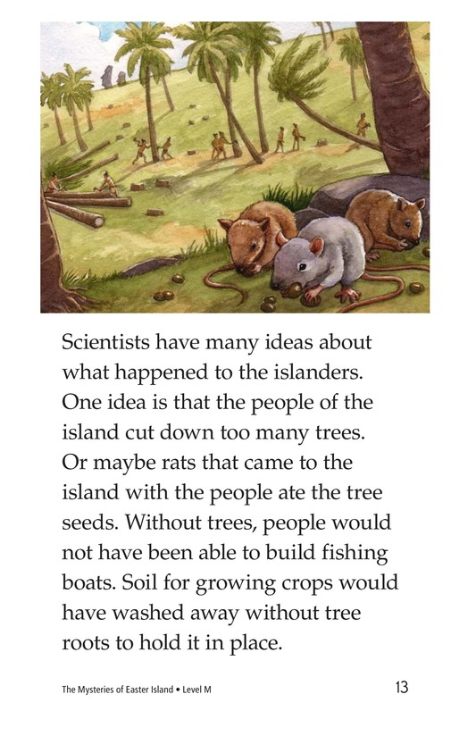 Book Preview For The Mysteries of Easter Island Page 13