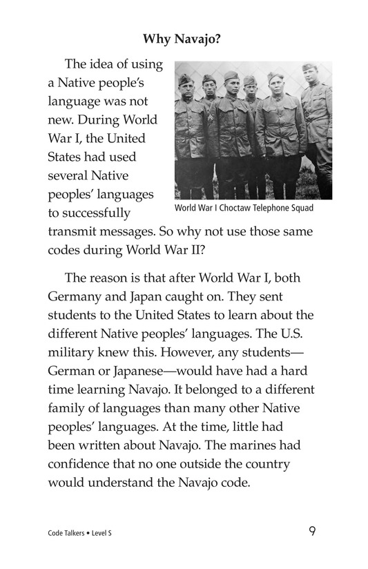 Book Preview For Code Talkers Page 9