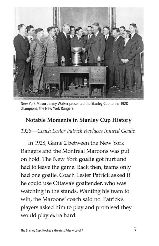 Book Preview For The Stanley Cup: Hockey's Greatest Prize Page 9