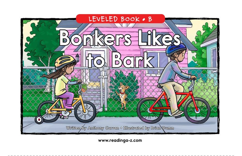 Book Preview For Bonkers Likes to Bark Page 1