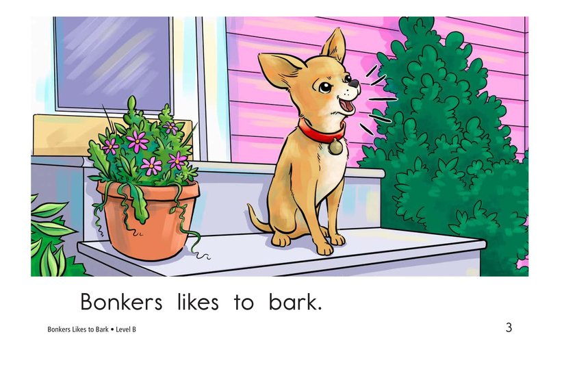 Book Preview For Bonkers Likes to Bark Page 3