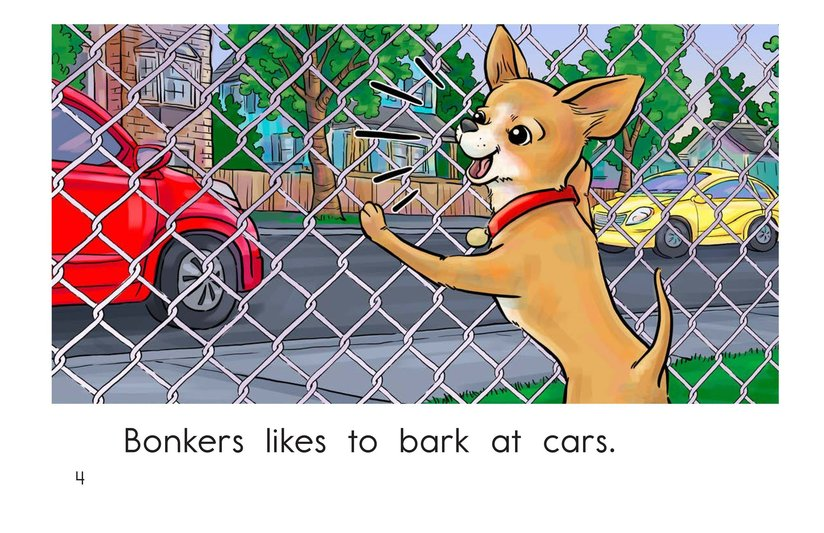 Book Preview For Bonkers Likes to Bark Page 4