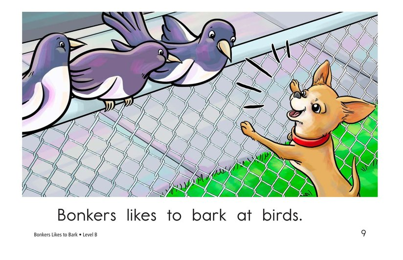 Book Preview For Bonkers Likes to Bark Page 9