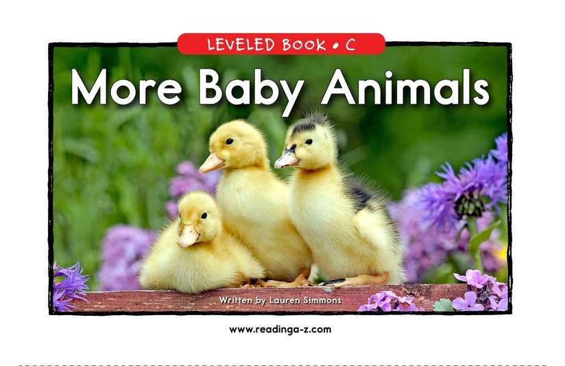 Book Preview For More Baby Animals Page 0