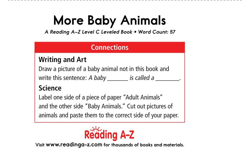 Book Preview For More Baby Animals Page 11