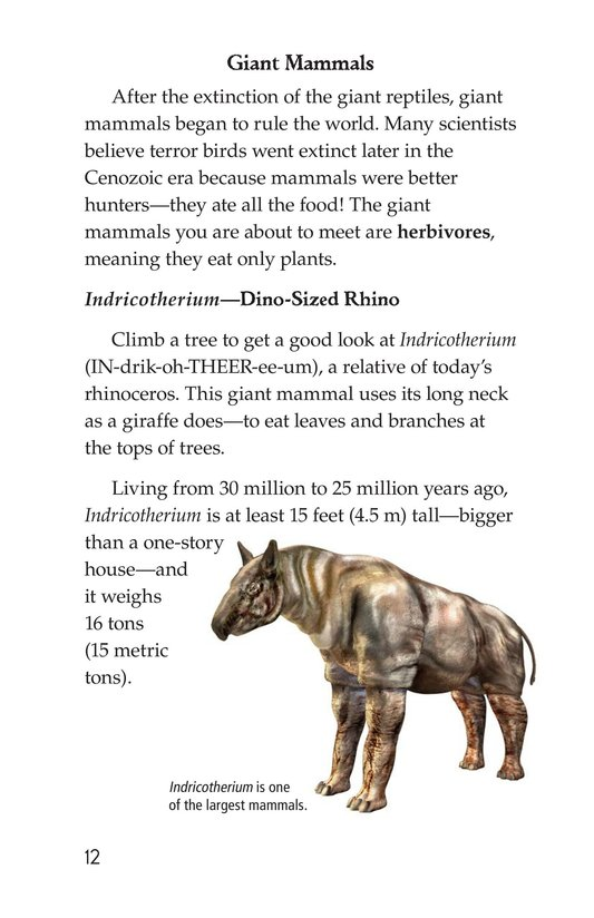 Book Preview For Prehistoric Giants (Other Than Dinosaurs) Page 12